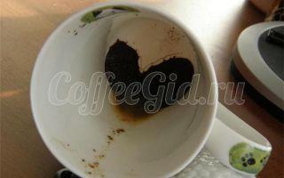 Гадание на кофейной гуще: сердце на дне чашки
