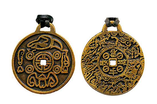 Имперский амулет на удачу и богатство из настоящей царской монеты