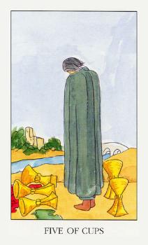 Пятерка Кубков в сочетании с другими картами Таро