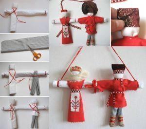 Неразлучники кукла оберег: мастер класс по изготовлению