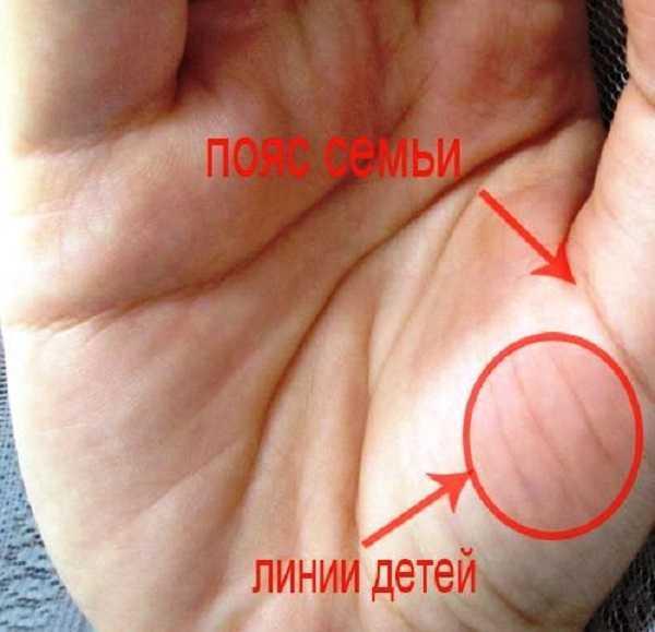 Линия детей на руке: хиромантия на количество малышей