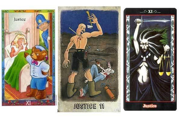 Справедливость в сочетании с другими картами Таро