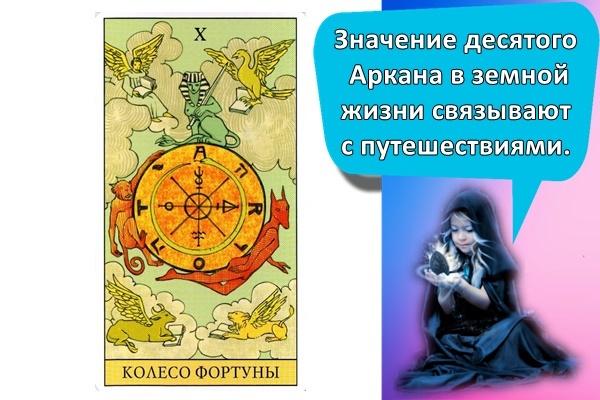 Колесо Фортуны в сочетании с другими картами Таро: значение